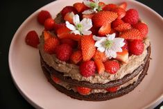 Chokoladedrøm i flere lag Delicious Desserts, Yummy Food, Summer Treats, Cakes And More, Let Them Eat Cake, Yummy Cakes, Cake Cookies, No Bake Cake, Love Food