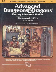 The Assassin's Knot | Book cover and interior art for Advanced Dungeons and Dragons 1.0 - Advanced Dungeons & Dragons, D&D, DND, AD&D, ADND, 1st Edition, 1st Ed., 1.0, 1E, OSRIC, OSR, Roleplaying Game, Role Playing Game, RPG, Wizards of the Coast, WotC, TSR Inc. | Create your own roleplaying game books w/ RPG Bard: www.rpgbard.com | Not Trusty Sword art: click artwork for source
