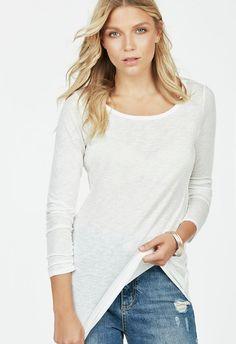 Tunic Layering Top Kleidung in Winter White - günstig kaufen bei JustFab