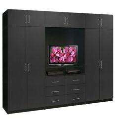Aventa TV Wardrobe Wall Unit X-Tall - Bedroom TV Furniture Plus Storage