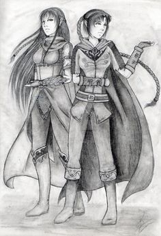 Twins from the Woodland Realm by Keirkan.deviantart.com on @DeviantArt