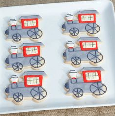 the little engine that could birthday party, train cookies