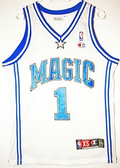 Champion NBA Basketball Orlando Magic #1 Tracy McGrady Trikot/Jersey Size 36 - Größe XS - 79,90€ #nba #basketball #trikot #jersey #ebay #sport #fitness #fanartikel #merchandise #usa #america #fashion #mode #collectable #memorabilia #allbigeverything