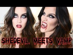 shedevil/vampire make up my make up not lillys sure wish i had this last year, super cool
