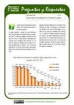 Tasa neta de escolarización en población gitana