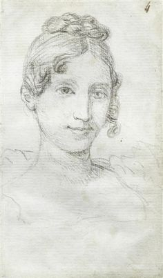 Jacques-Louis David - A study for the portrait of...