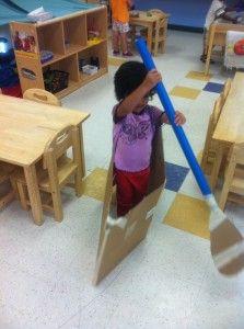 Canoeing in preschool