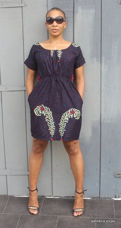 Catepillar Ankara Print Dress by AdinkraExpo on Etsy Short African Dresses, Ankara Short Gown Styles, Latest African Fashion Dresses, African Print Dresses, African Print Fashion, African Attire, African Wear, African Style, African Print Dress Designs