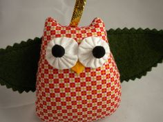 Felt Owl Ornament  Piper by quiettimequiltsdc on Etsy, $20.00
