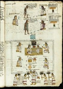 Codex Mendoza 1541 – This manuscript was commissioned by Antonio de Mendoza, first Viceroy of Mexico 1535-1550, for presentation to the Emperor Charles V of Spain.