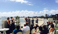 Summer ceremony at Harbour Room, RMYS rooftop St Klida beach, Melbourne - what a setting!!