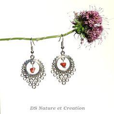 Ethnic jewelry red jasper earrings folk by DSNatureetCreation https://www.etsy.com/listing/237040728/ethnic-jewelry-red-jasper-earrings-folk
