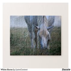 White Horse Jigsaw Puzzle Make Your Own Puzzle, Custom Gift Boxes, Horse Photography, Sticker Shop, Chipboard, Colour Images, High Quality Images, Your Design, Jigsaw Puzzles