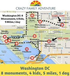 DC: 8 monuments, 4 kids, 5 miles, 1 day Traveling with your Family to Washington DC for 1 day can be a lot of fun and you can see a lot!Traveling with your Family to Washington DC for 1 day can be a lot of fun and you can see a lot! Washington Dc With Kids, Washington Dc Vacation, Visit Washington Dc, Washington Dc Restaurants, East Coast Travel, East Coast Road Trip, Disney Hotels, Disney Cruise, Wanderlust