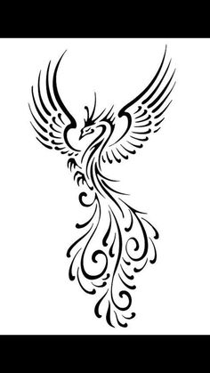 Phoenix bird. Well done tail. Lovely shape & length
