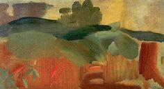 Ivon Hitchens orange autumn oil on canvas Abstract Landscape, Landscape Paintings, Landscapes, Awesome Art, Cool Art, Orange, Archaeology, Impressionist, Oil On Canvas