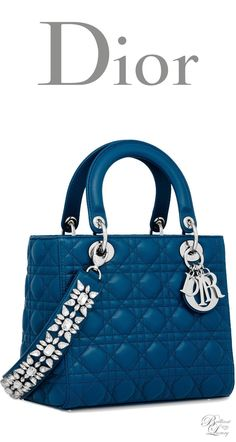 Brilliant Luxury * Dior Summer 2016 ~ Lady Dior bag in Poseidon Blue lambskin