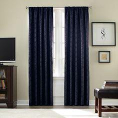 Athena Rod Pocket  Room  Darkening 63-Inch Window Curtain Panel in Navy