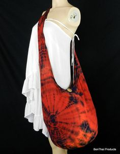 Tie Dye Bag Purse Hobo Hippie Sling Crossbody by BenThaiProducts, $15.99
