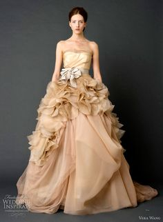 Vera Wang Spring 2012 bridal collection. Can't wait to see a real bride wear this show stopper. #wedding