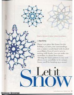 christmas crafts: beaded snowflakes patterns | make handmade, crochet, craft