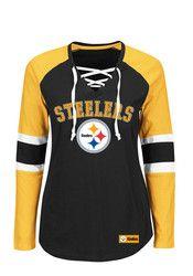 Pitt Steelers Womens Black Winning Style T-Shirt