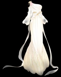 Drawing Anime Clothes, Dress Drawing, Anime Outfits, Mode Outfits, Simple White Dress, Kleidung Design, Anime Girl Dress, Dress Sketches, Fashion Design Drawings