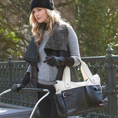 Storksak Kate Colorblock Diaper Bag - Stone And Black | Maternity Clothes   www.duematernity.com