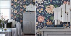 Boråstapeter - Beautiful Traditions 6701BT - Beautiful Traditions är en ljus, romantisk och dekorativ kollektion med helt nyritade mönster inspirerade av livet på den svenska landsbygden, både i torp och herrgårdar. Blommigtapet. Tapet i Blå, Grön, Beige finns på Stuvbutiken