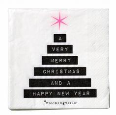Via Stoer in Style | Bloomingville Christmas Napkins