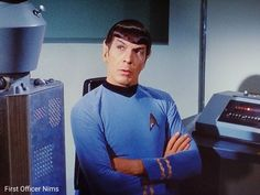 """The Changeling"" Star Trek TOS 1967 Leonard Nimoy Spock First Officer Nims Star Trek Tv Series, Sci Fi Tv Series, Star Trek Original Series, Star Trek Tos, Star Wars, Star Trek Gifts, Fictional Heroes, Leonard Nimoy, Stars Then And Now"