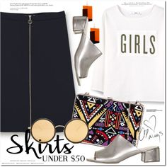 Skirts under $50 by monica-dick on Polyvore featuring polyvore, fashion, style, MANGO, Topshop, Linda Farrow, H