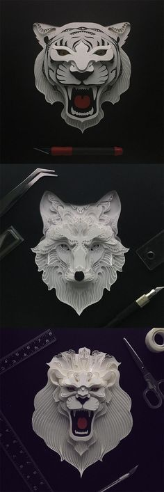 Click for more pics! | Patrick Cabral Explores The Animal Form Through Delicate Layered Papercuts #paperart
