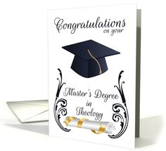 Master's Degree In Theology Congratulations - Mortar... (1364448)