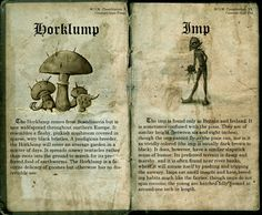 Magical beasts : Horklump and Imp.  Made by : lost in Hogwarts Deviantart