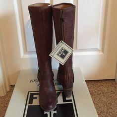 Frye Tabitha talk harness boot NWT Frye Tabitha talk harness boot.  Dark brown. Frye Shoes Heeled Boots