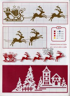 This Pin was discovered by Lau Xmas Cross Stitch, Cross Stitch Bookmarks, Cross Stitch Charts, Cross Stitch Designs, Cross Stitching, Cross Stitch Embroidery, Embroidery Patterns, Cross Stitch Patterns, Theme Noel