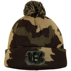 caa06b20be6f05 Men s Cincinnati Bengals NFL Pro Line by Fanatics Branded Camo Rank Cuffed Knit  Hat