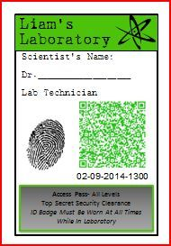 Security Clearance Badge Printable Or Different TUXEDO - Mad scientist name tag template