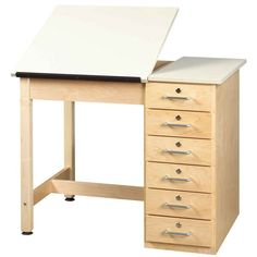 Superieur Drawing Table With Drawers   Two Piece Top At SCHOOLSin