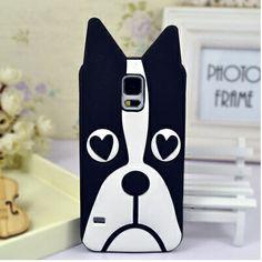 Samsung Galaxy S5 Cute 3D Animal Dog Soft Case - Cartoon Galaxy S5 Cases - Samsung S5 Cases