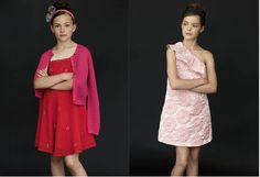 #girls #fun #teen #kids #party #outfit #dresses #pink #red #occasion #trend #style #sisley #benetton