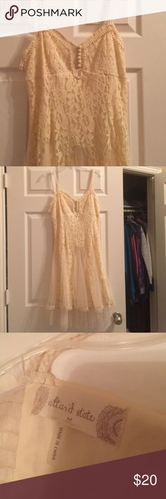 Cream Fairy Dress Gauzy, lacey, airy. Just like a fairy! I love this dress but I don't quite fit it anymore... Altar'd State Dresses Midi
