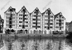 Königsberg (Prusse-Orientale), Pregelhafen. Les entrepôts. Photo, vers 1925, de Paul W. John (1887–1966).