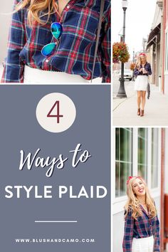 A plaid shirt is basically a neutral! You can style this top with whatever your inner glam goddess decides to! I love them because they're basically the same shirt, but the colors make them look totally different! Don't believe me? Try my 4 easy tips to style a plaid shirt. You're going to love them! #styletips #style #plaidshirtstyle