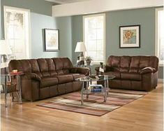 brown and Blue Living Room | The Best Living Room Paint Color ...