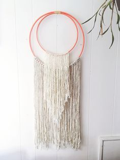 Fiber Art by Steady Hand Creative hoop wall hanging yarn textile simple texture wrap try make home craft
