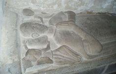 tombeau d'un chevalier de la famille de Pontbriand, Bretagne ; Ille-et-Vilaine ; Saint-Lunaire