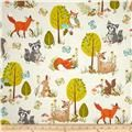 Kaufman Forest Fellow Racoons Nature - Discount Designer Fabric -  Fabric.com