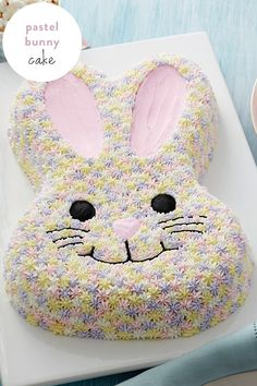 A pretty pastel bunny cake is the perfect ending to your Easter celebration. This bunny cake is sure to get you in the mood for spring. Get the how-to from @walmart